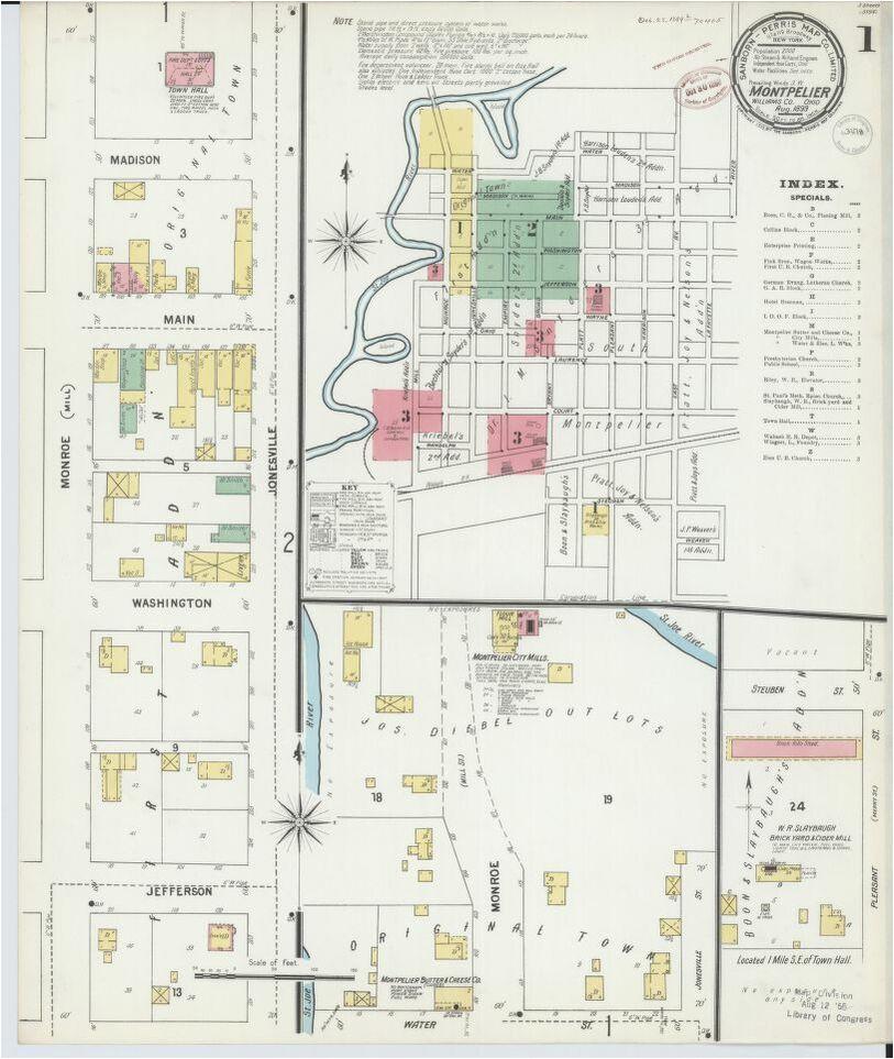 Map Of Defiance Ohio Map Ohio Library Of Congress – secretmuseum