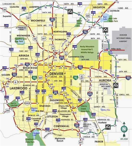 Map Of Denver Colorado area Denver Metro Map Unique Denver County ...