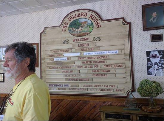 menu pricing picture of the dillard house dillard tripadvisor