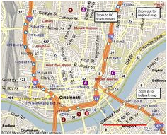 map of downtown cincinnati awesome map downtown columbus ohio
