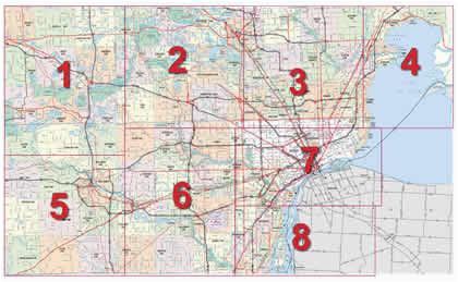 Map Of Downtown Detroit Michigan | secretmuseum Downtown Detroit Map on