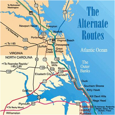 obx map inspirational map of the outer banks including hatteras and