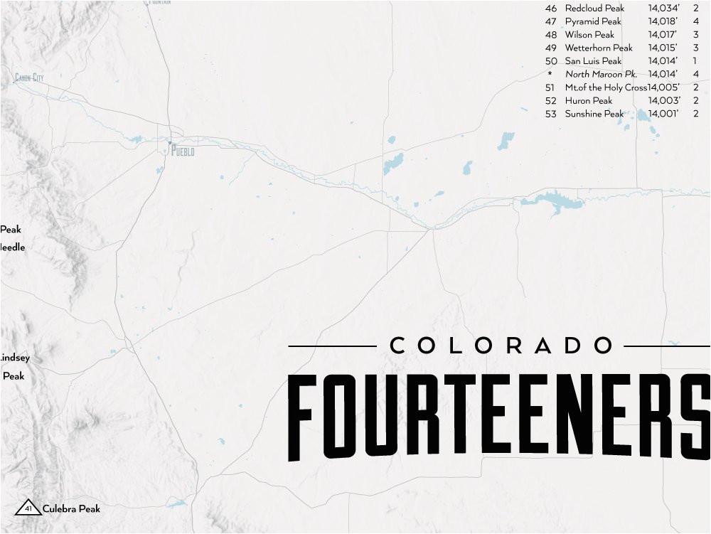 Map Of Fourteeners In Colorado Amazon Com Best Maps Ever 58 Colorado ...