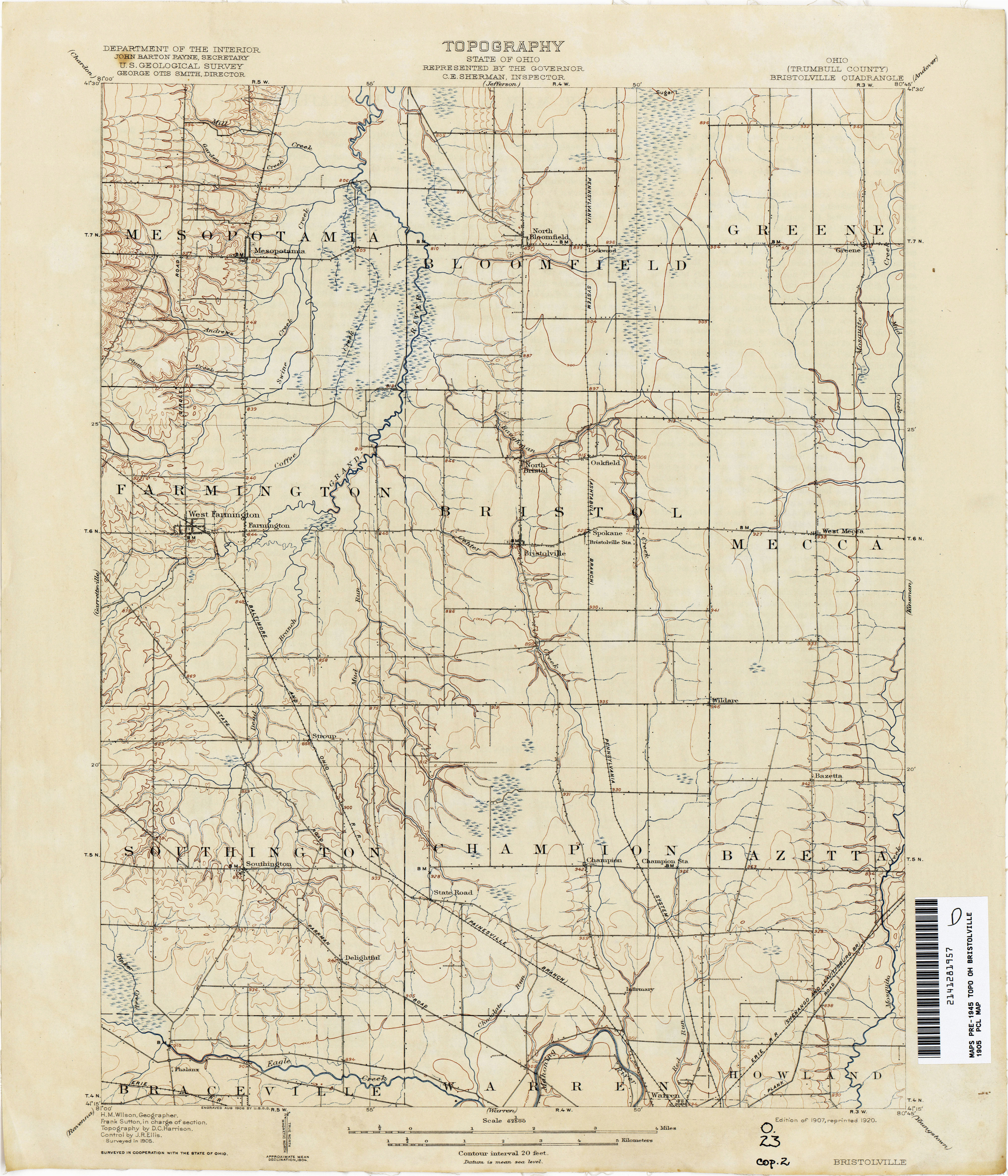 Map Of Harrison County Ohio Ohio Historical topographic Maps Perry Castaa Eda Map Collection