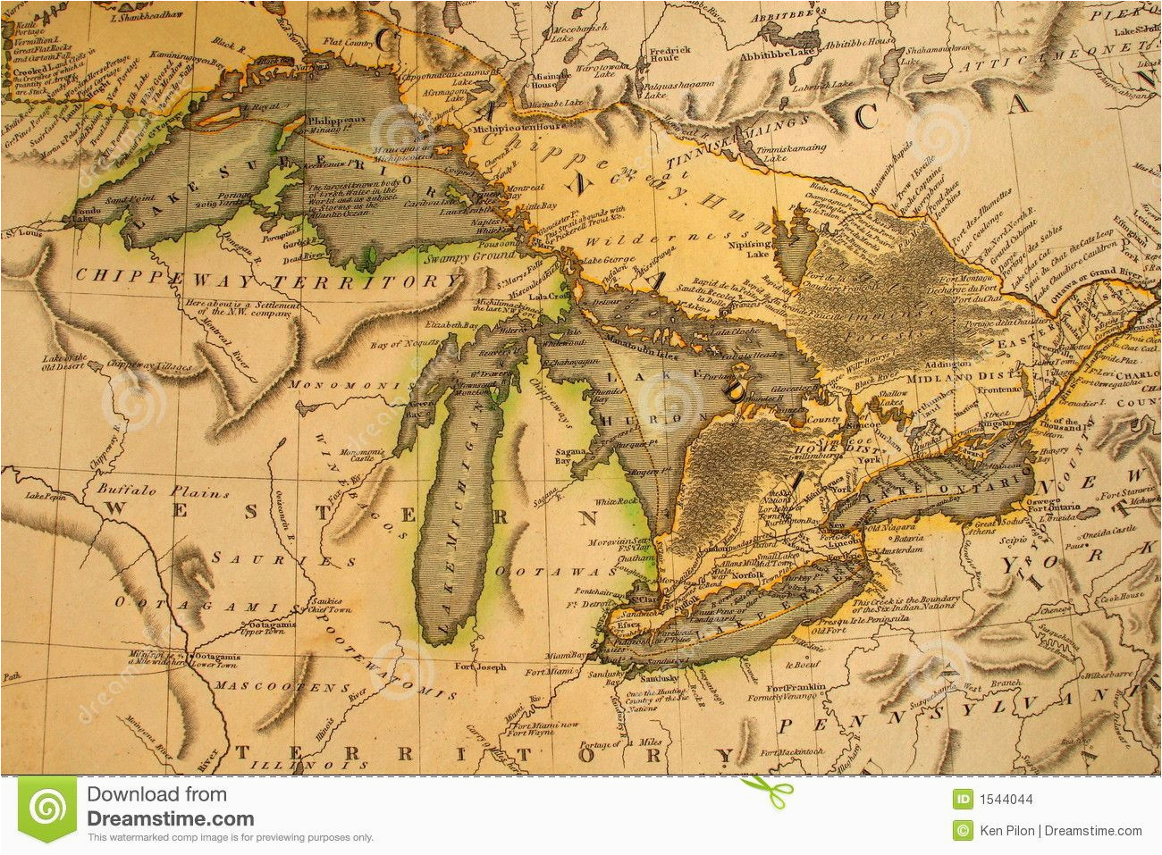 35 awesome vintage michigan maps images art pinterest map