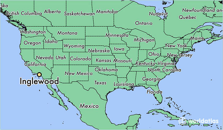 california map and cities where is inglewood ca inglewood
