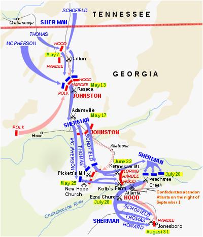 Map Of Georgia Kennesaw.Map Of Kennesaw Georgia Atlanta Campaign Battle Map Kennesaw