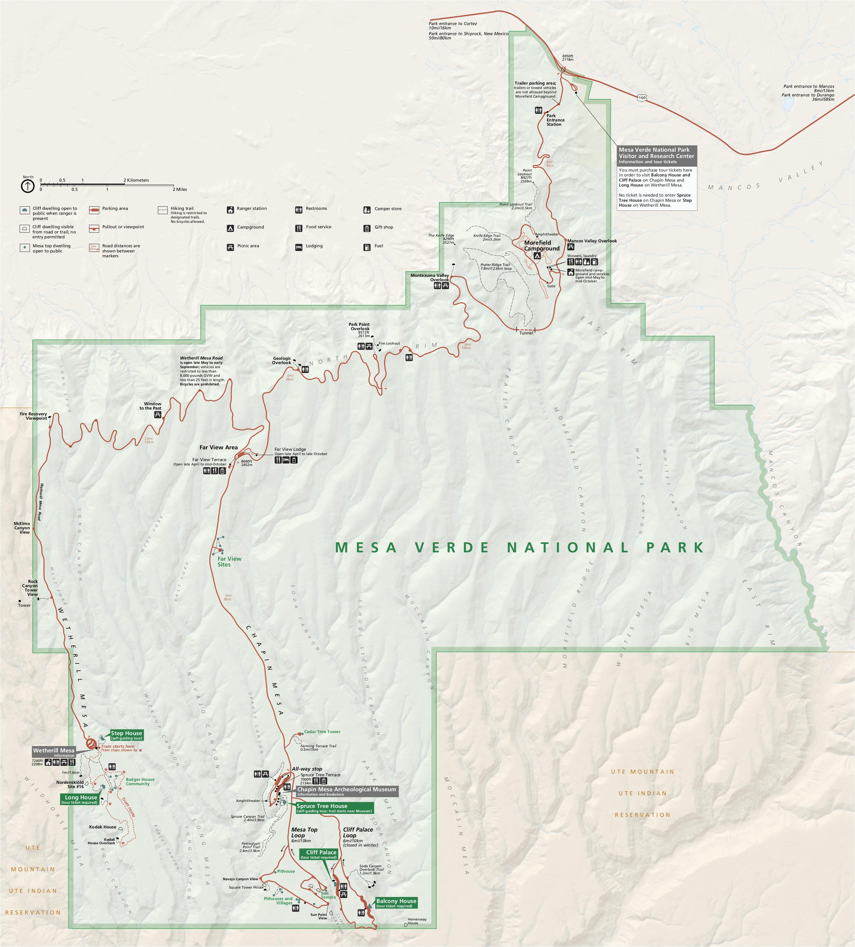 Map Of Mesa Verde Colorado Secretmuseum