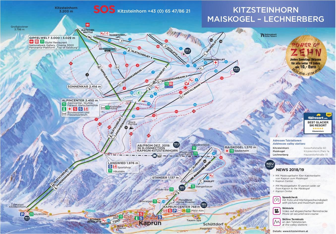 Map Of Michigan Ski Resorts Kaprun Austria Piste Map Free ... Downloadable Maps on