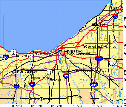 cleveland zip code map inspirational cleveland ohio oh profile