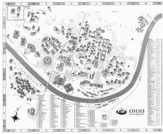 60 best aerial views and maps of the ohio campus images aerial