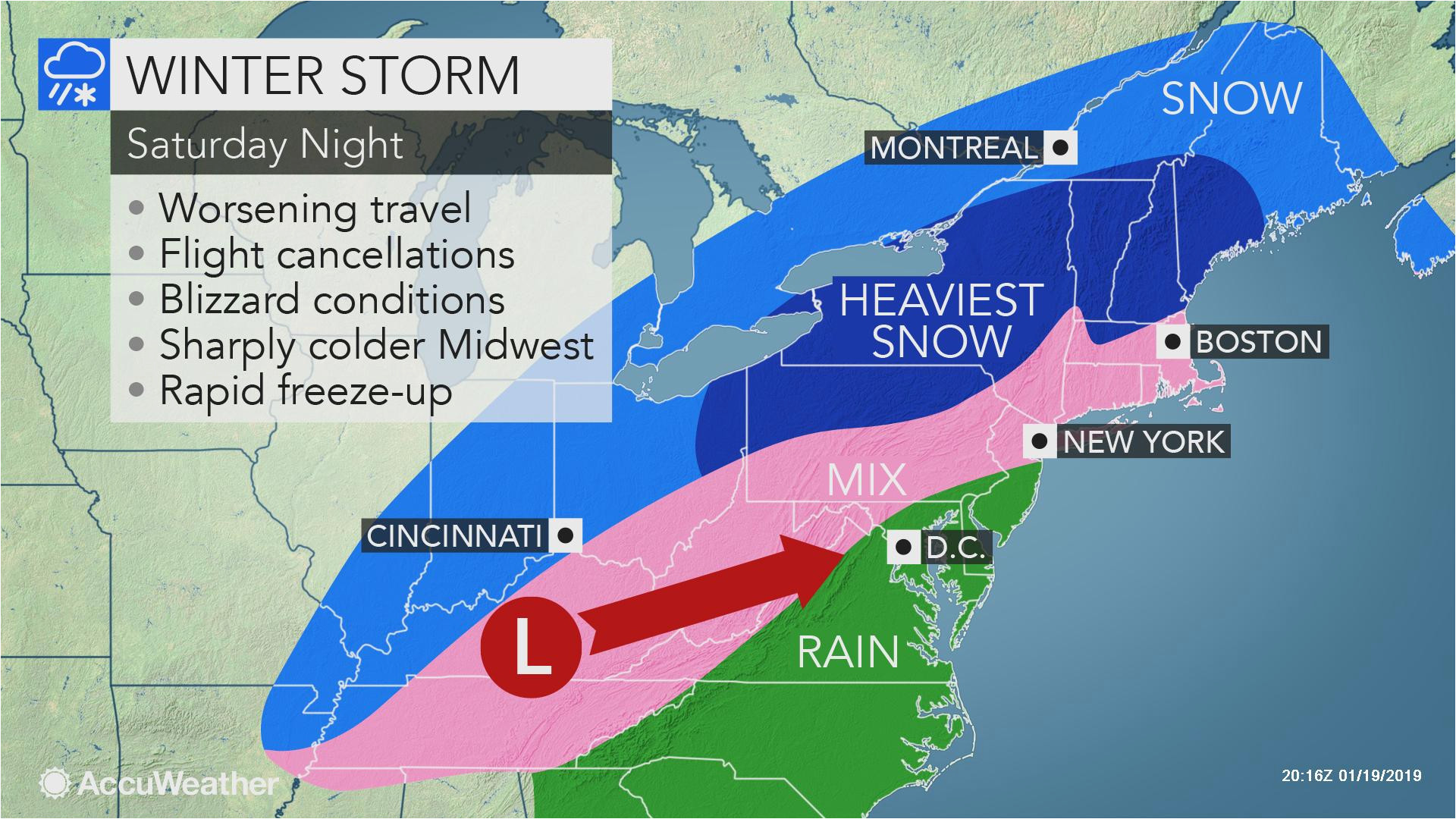 midwestern us wind swept snow treacherous travel to focus from