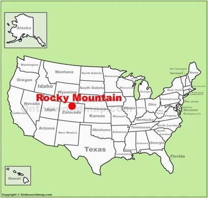 Map Of Rocky Mountain National Park Colorado   secretmuseum