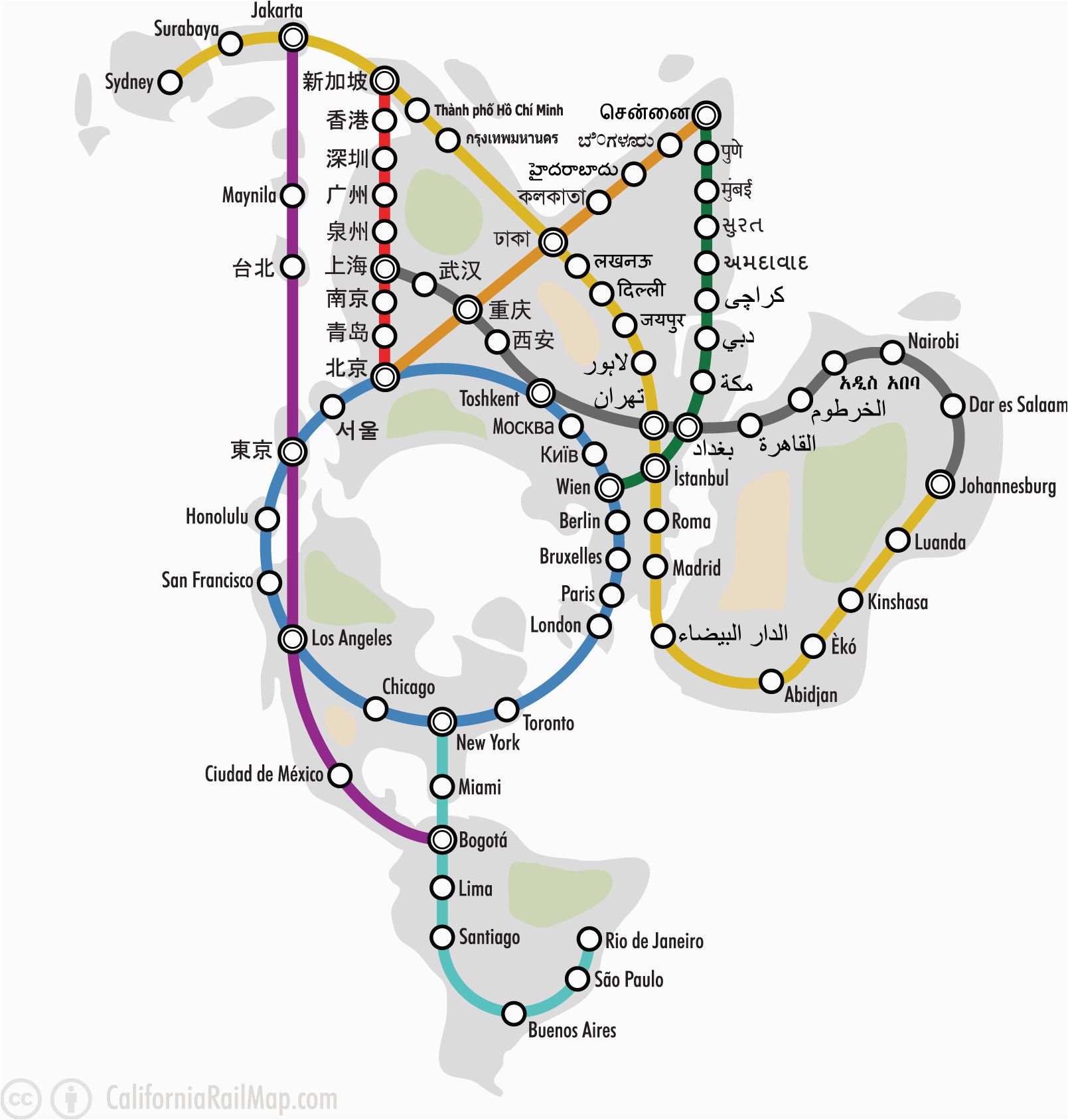 E Subway Map.Map Of Route 66 From Chicago To California Map Of Route 66 From