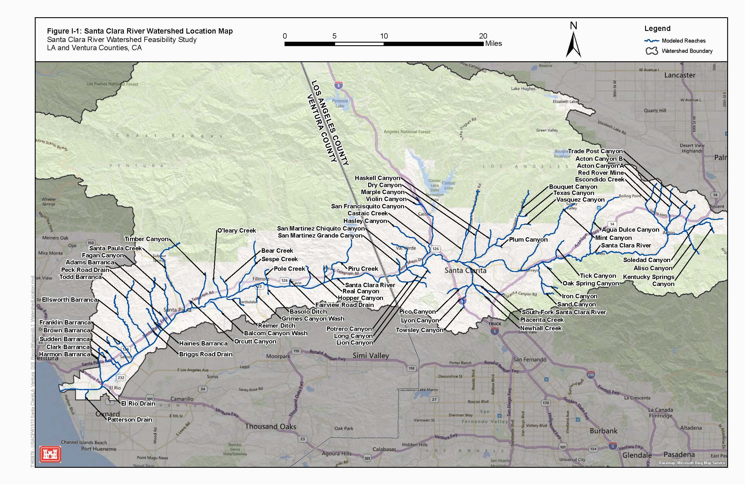 map of santa clarita california new los angeles district missions