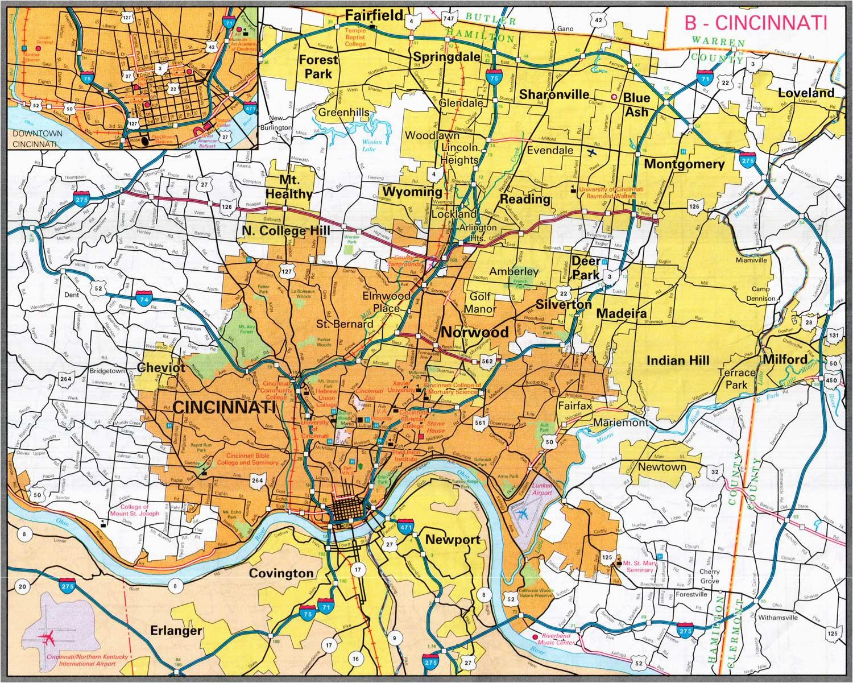 Map Of Sharonville Ohio | secretmuseum