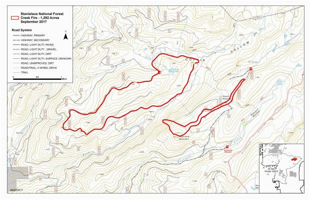 creek fire maps inciweb the incident information system