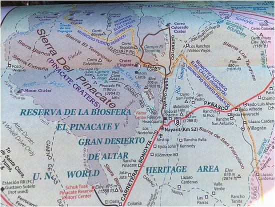 map of el pinacate y gran desierto de altar biosphere reserve