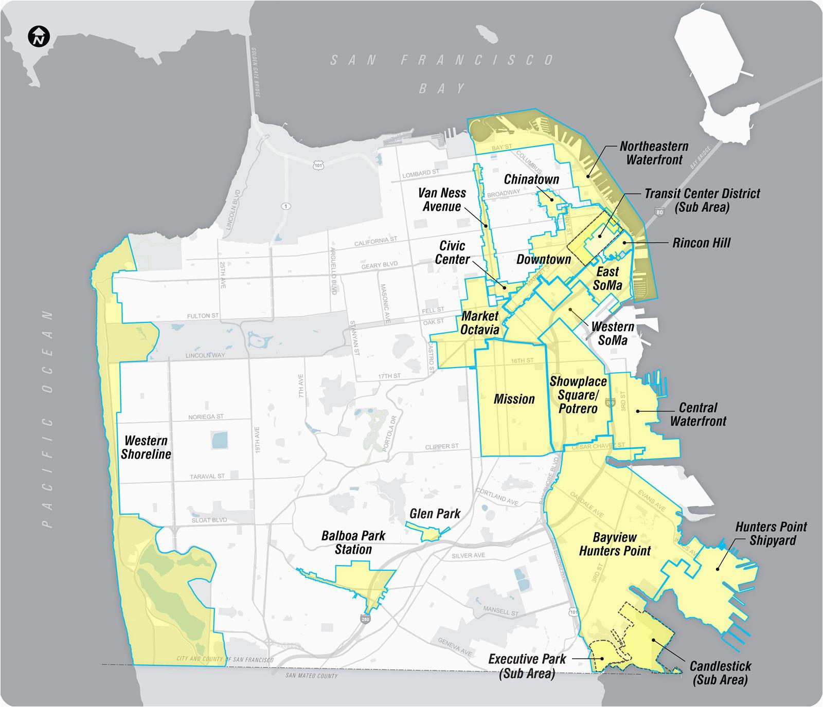 san francisco california map new san francisco map soma best where