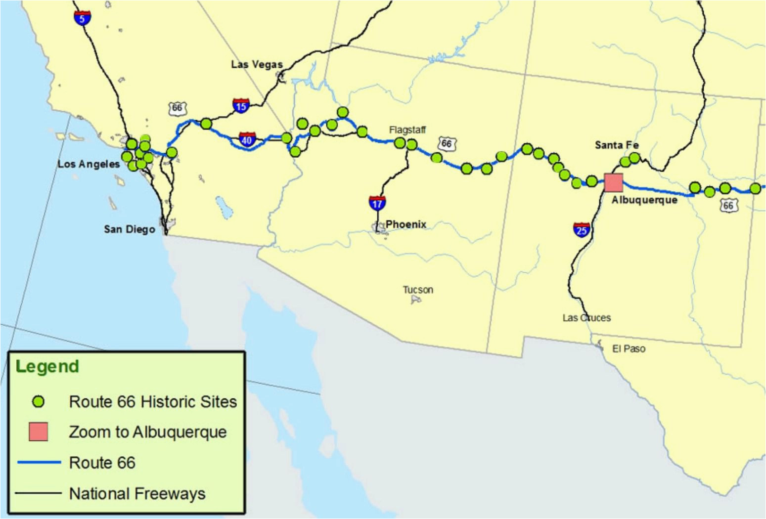 Map Of Utah Colorado Arizona and New Mexico Maps Of Route 66 Plan ...