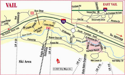 road map of vail vail colorado aaccessmaps com amazing design 33277