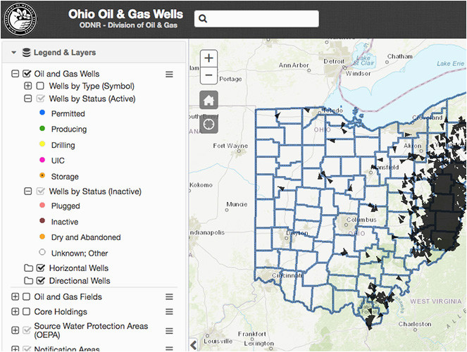 oil gas well locator