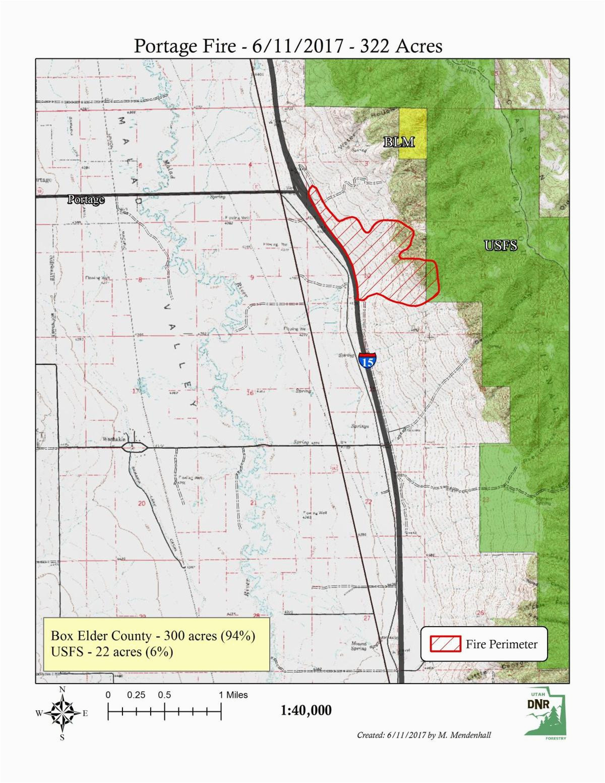 portage willard wildfires almost fully contained burned more than