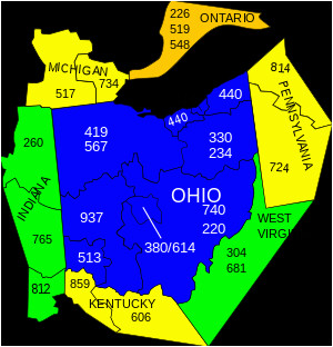 area codes 234 and 330 wikipedia