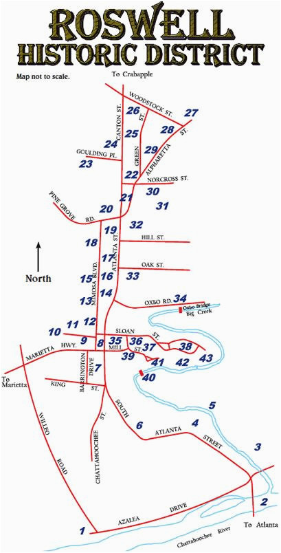 roswell historic district map walking tour discover in roswell