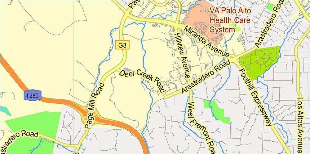 printable map menlo park california exact vector street g view