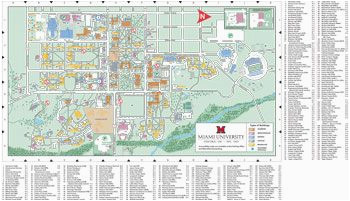 oxford campus map miami university click to pdf download trees