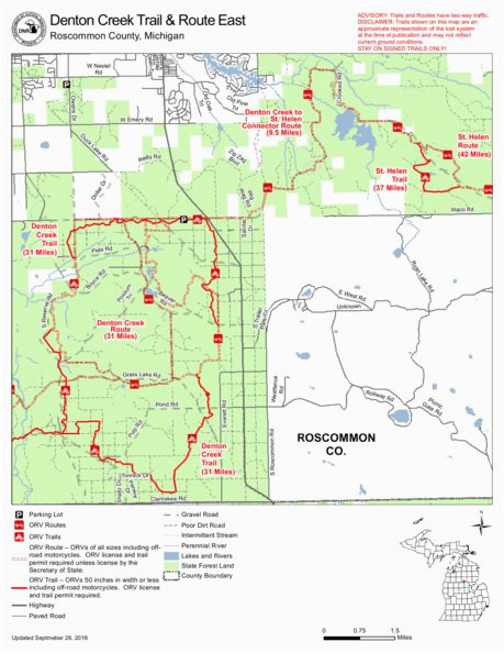 denton creek trail and route east mi dnr avenza maps