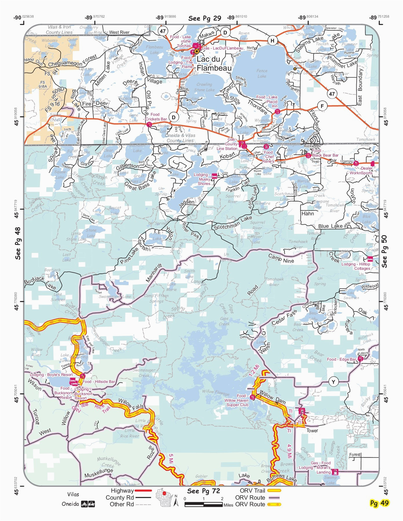 vvmapping wisconsin orv trail map book pages 51 100 text version