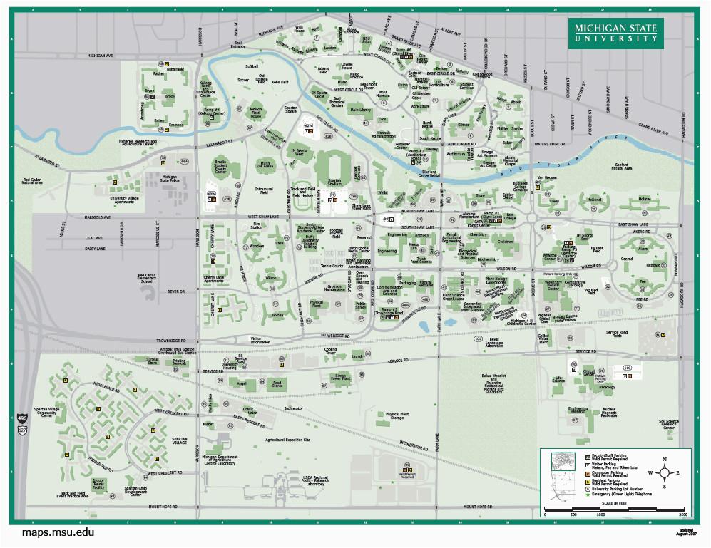 michigan state university map new michigan maps directions