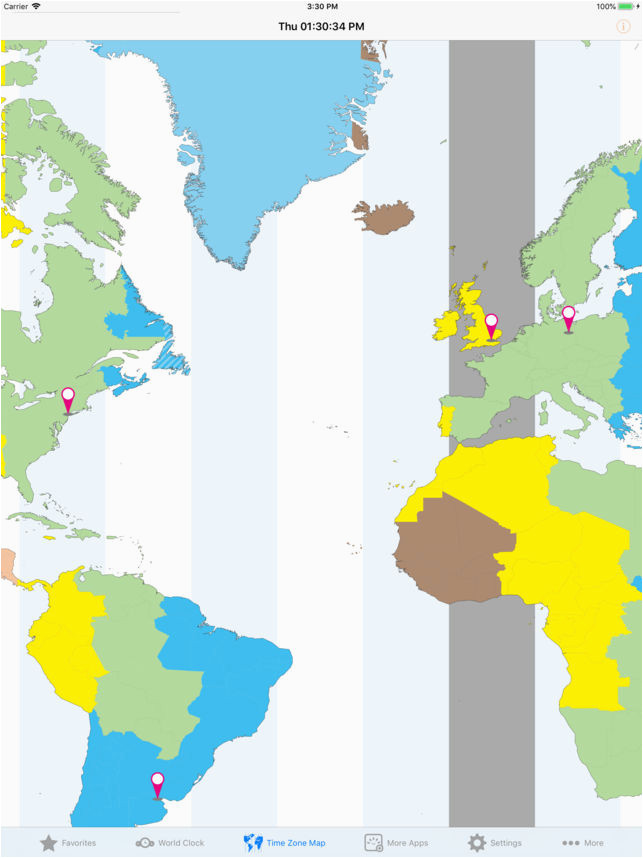 Michigan Time Zone Map World Clock Time Zones On the App Store ...