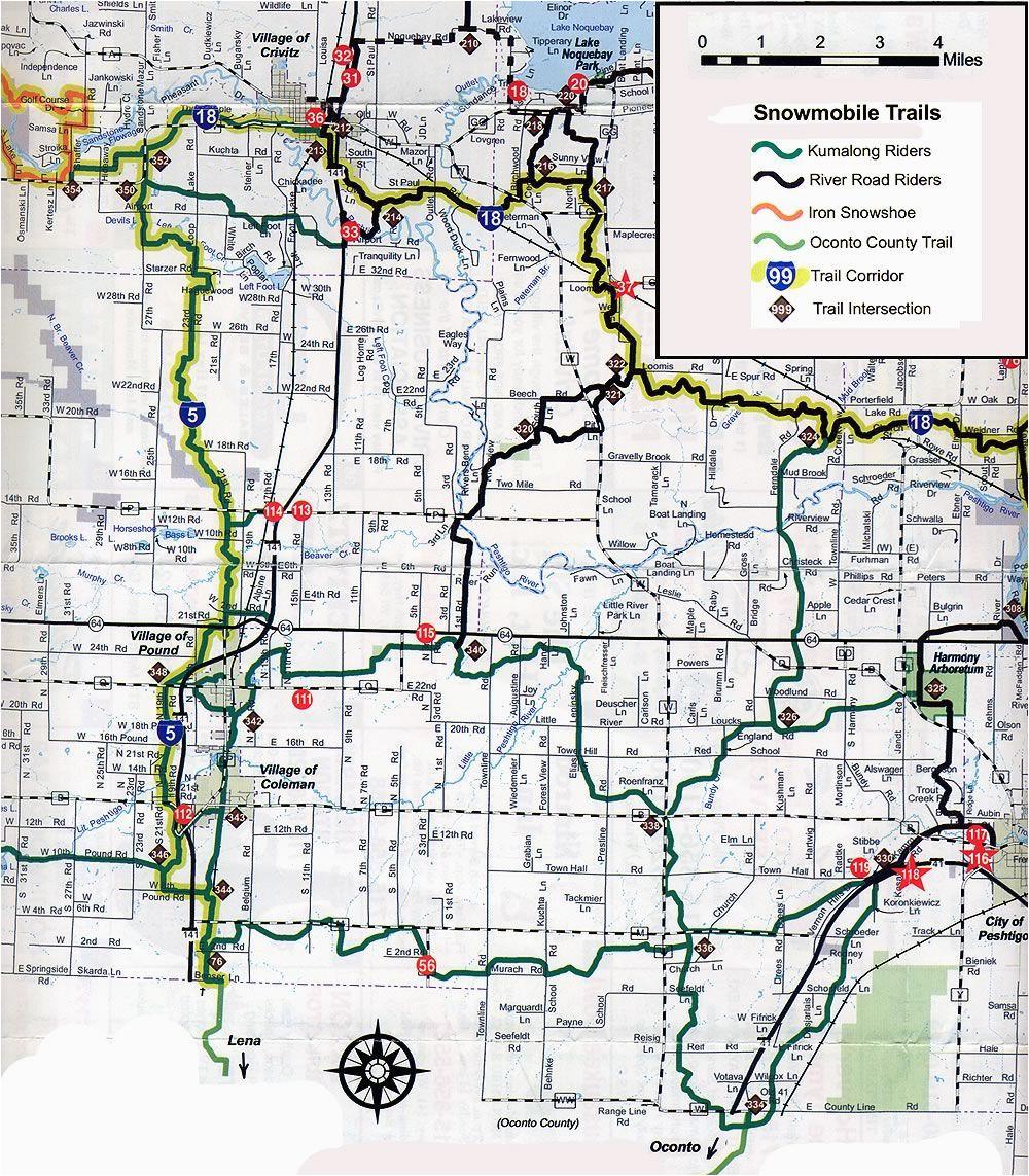 coleman wi snowmobile trail map brap pinterest trail maps