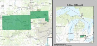 Michigan Voting Districts Map Michigan S 8th Congressional District Wikipedia