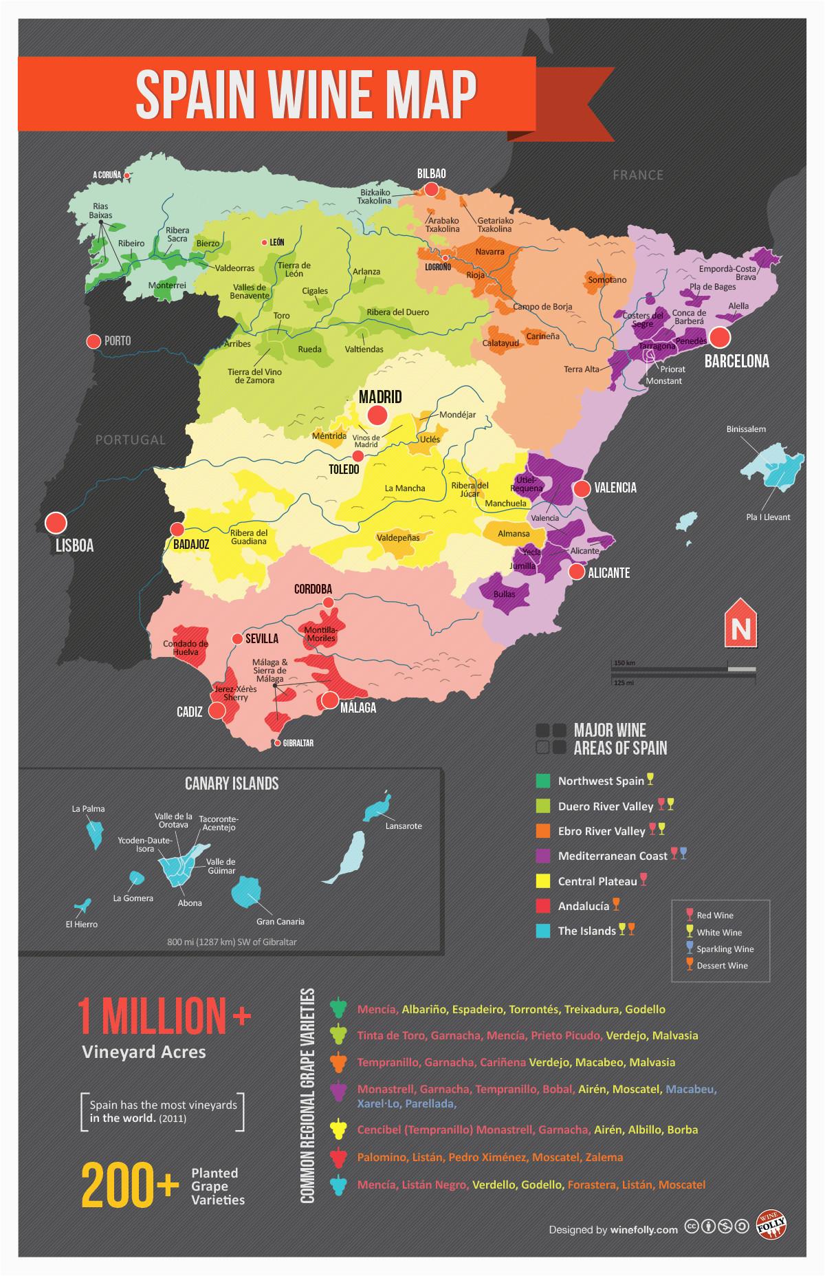 map of spanish wine regions via reddit spain in 2018 pinterest