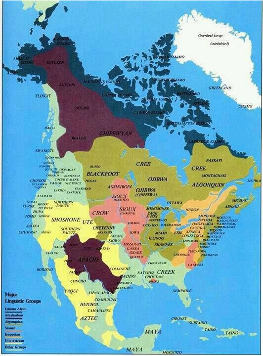map of native tribes before invasion by others archaeology