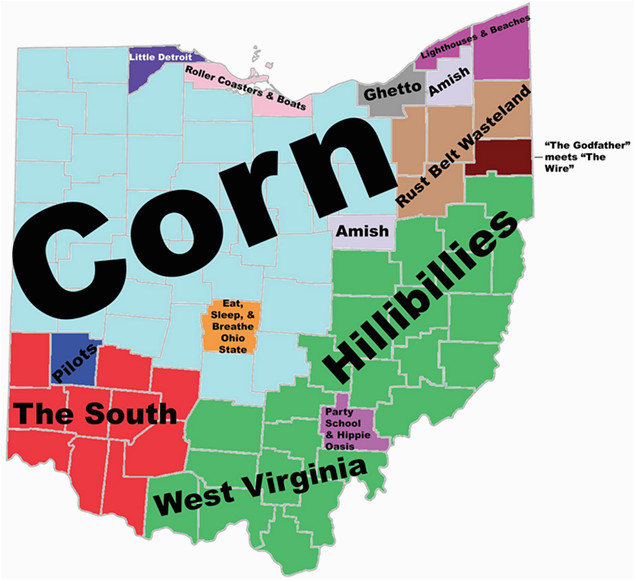 Ne Ohio Map 8 Maps Of Ohio that are Just too Perfect and Hilarious Ohio Day