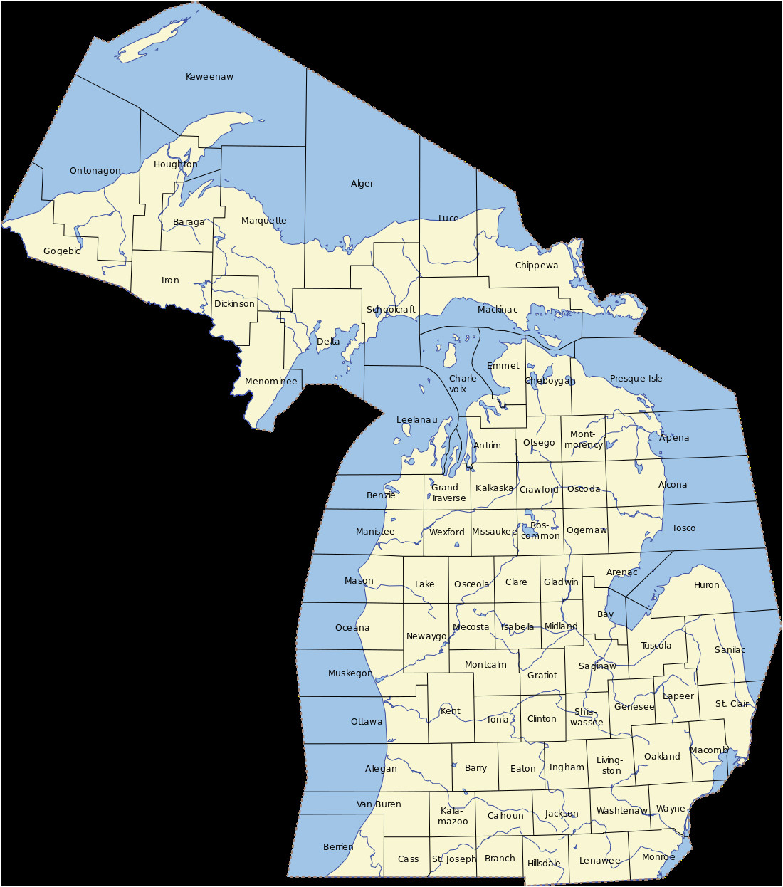 Neighbor Michigan Map Michigan Revolvy Secretmuseum
