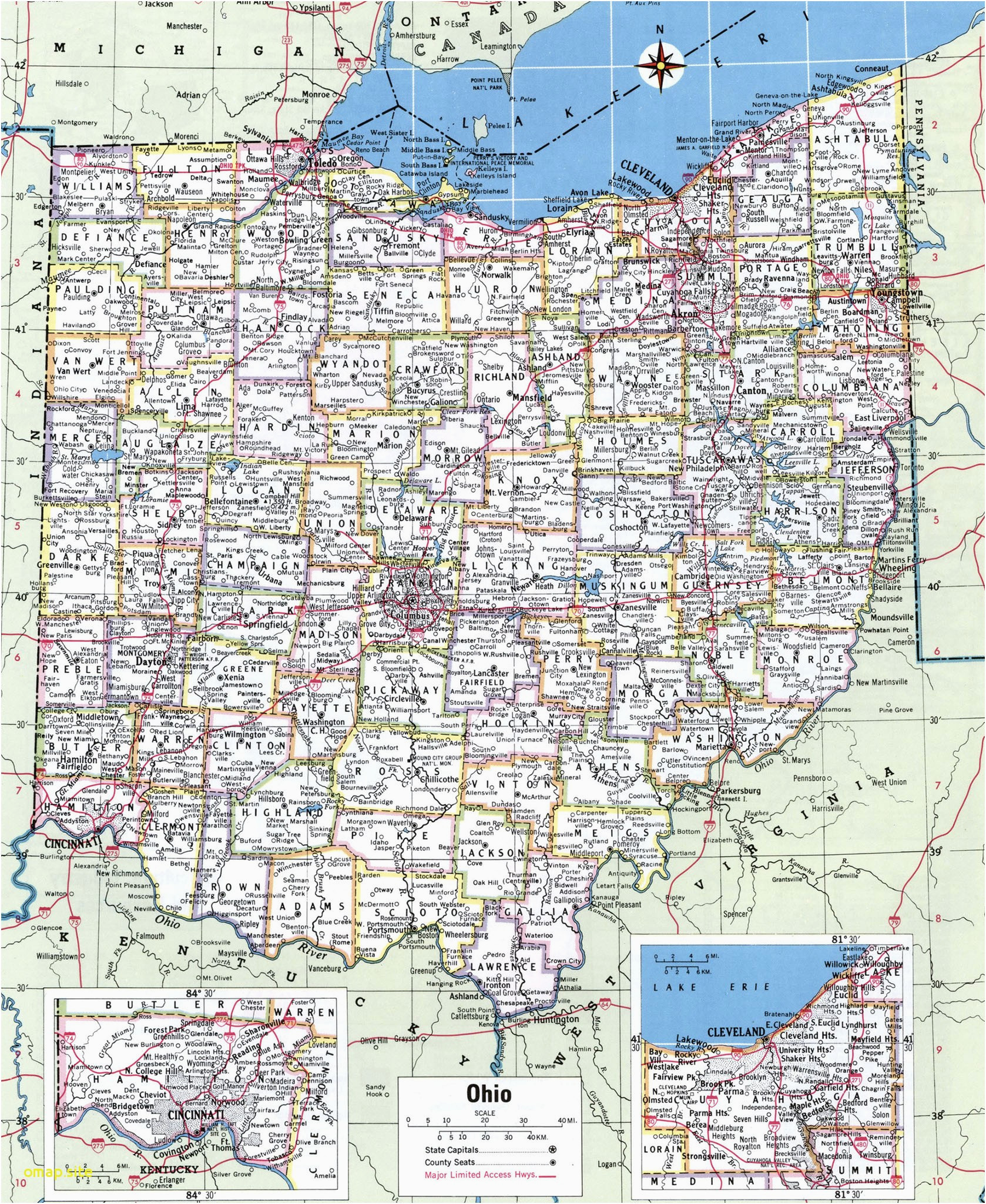 Ohio Map Counties And Cities | Map nhautoservice