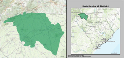 south carolina s 4th congressional district wikipedia