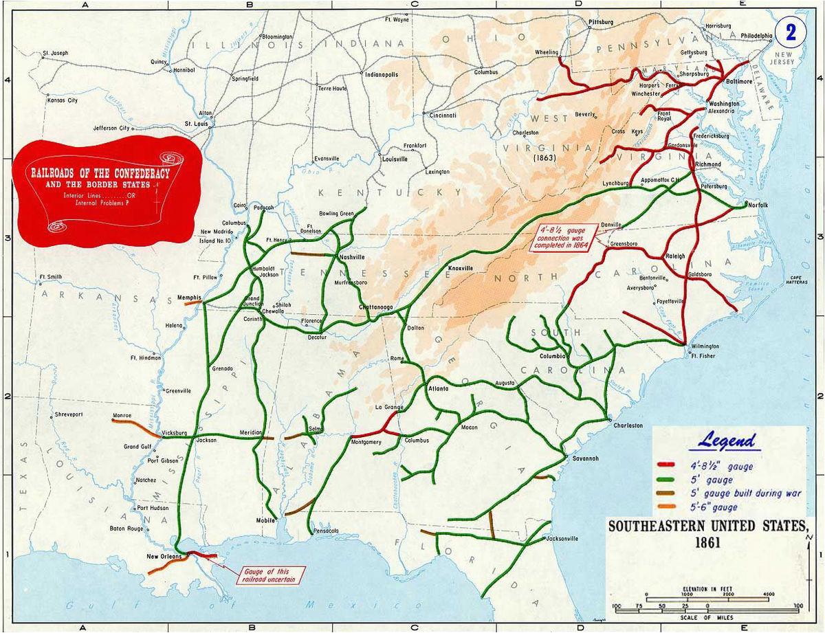 confederate railroads in the american civil war wikipedia