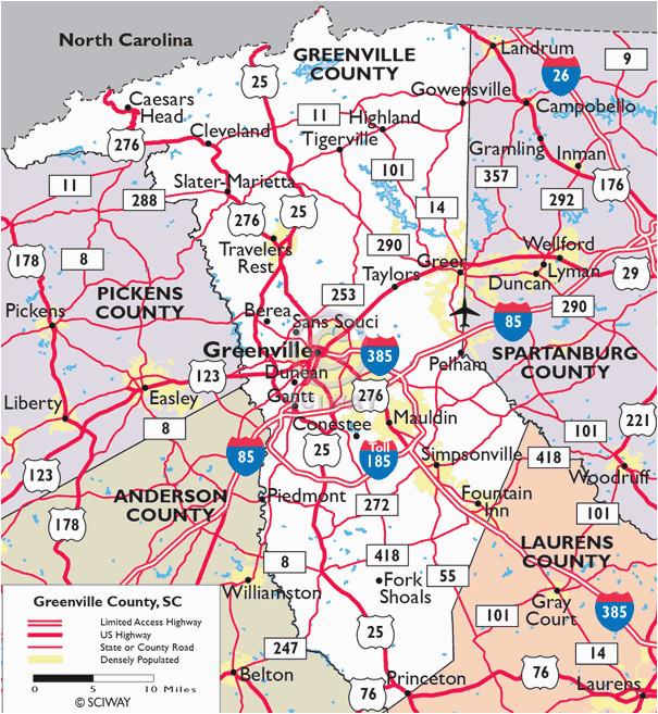 maps of greenville county south carolina