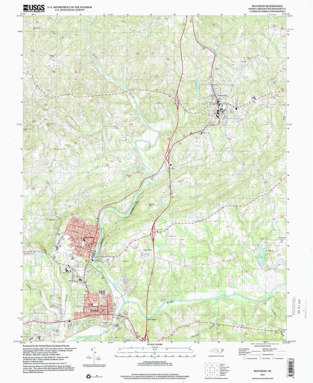 amazon com yellowmaps mayodan nc topo map 1 24000 scale 7 5 x