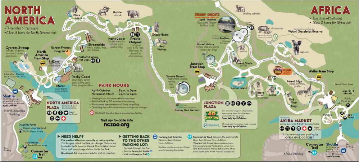 North Carolina Zoo Map 31 Perfect north Carolina Zoo Map Bnhspine Com