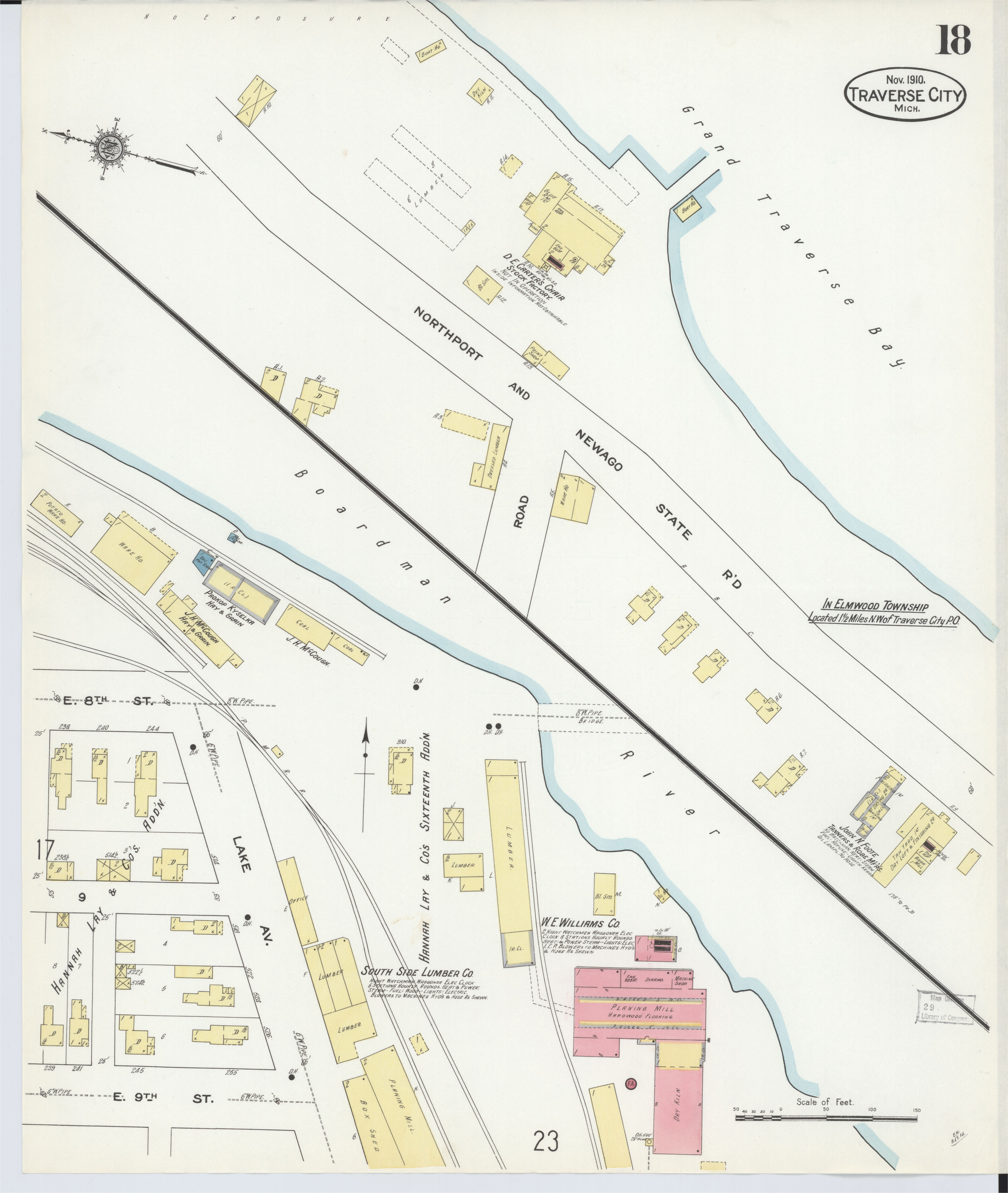 Northport Michigan Map File Sanborn Fire Insurance Map From Traverse City Grand Traverse