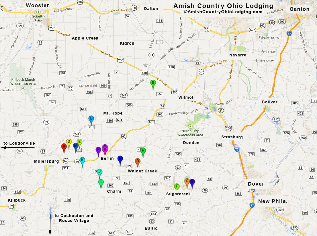 Ohio Amish Country Map Holmes County Ohio Map Unique Amish