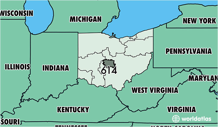 where is area code 614 map of area code 614 columbus oh area code